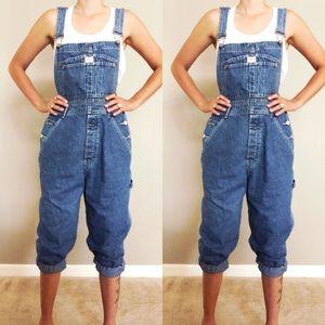 [Calvin Klein] 90's Denim Bib Overalls Size 4/6